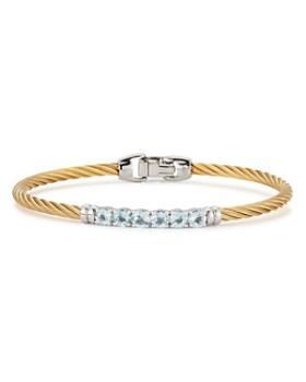 ALOR - Pavé Topaz Cable Bangle Bracelet