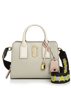 LITTLE BIG SHOT SAFFIANO-LEATHER SATCHEL