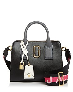 MARC JACOBS - Little Big Shot Saffiano-Leather Satchel