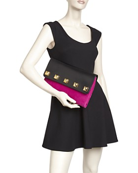 MARC JACOBS - Studded Suede & Leather Clutch