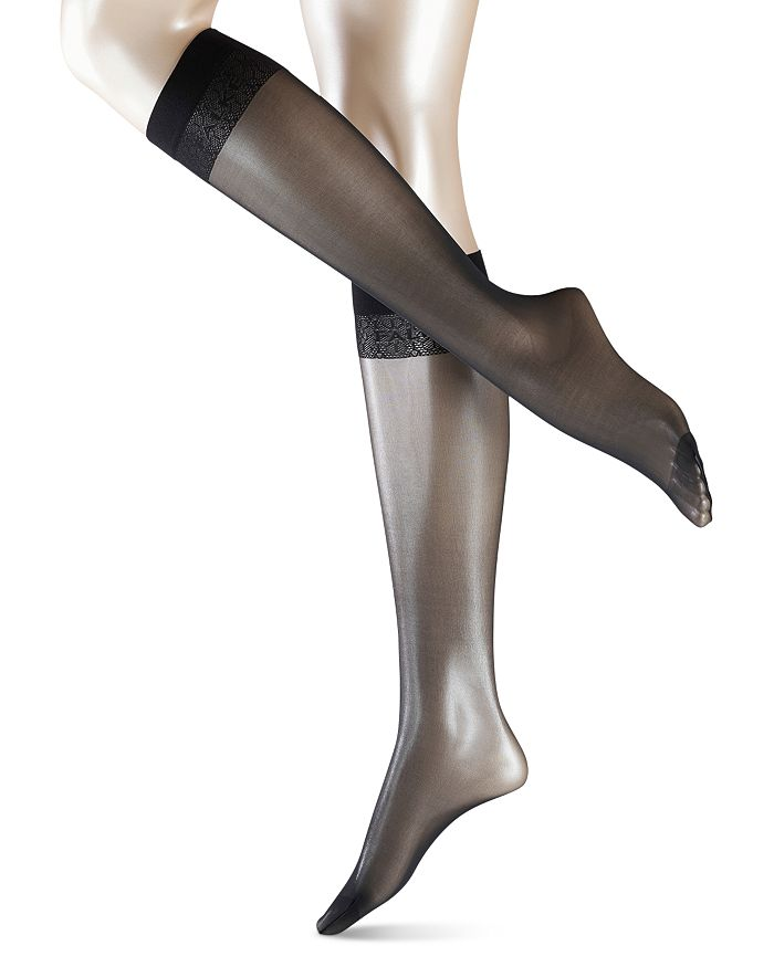 Falke Matt Deluxe 20 Knee High Socks In Black