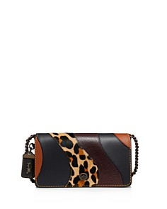 COACH - COACH 1941 Leopard Patchwork Leather Dinky Crossbody