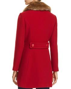 kate spade new york - Twill Faux Fur Trim Coat - 100% Exclusive