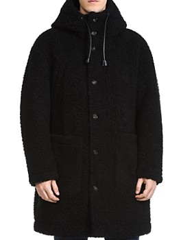 DSQUARED2 - Hooded Faux Shearling Coat