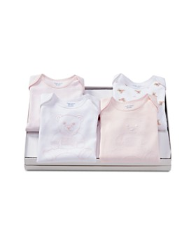 Ralph Lauren - Girls' Cotton Bear Bodysuits, Set of 4 - Baby