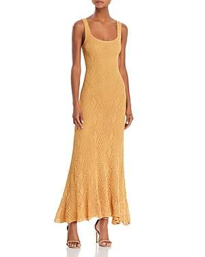 Ronny Kobo Alonia Crochet Maxi Dress