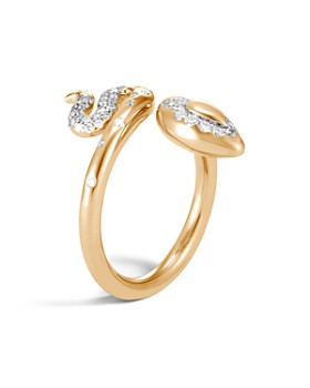 John Hardy - 18K Yellow Gold Legends Cobra Diamond Wrap Ring - 100% Exclusive