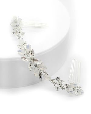 BRIDES AND HAIRPINS Brides And Hairpins Monroe Crystal Halo Comb in Silver