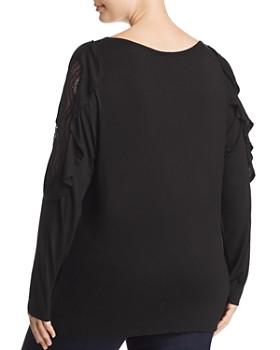 Love Scarlett Plus - Lace-Shoulder Top - 100% Exclusive