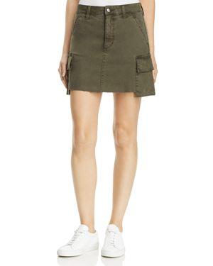 Military High Waist Twill Miniskirt, Forest Floor