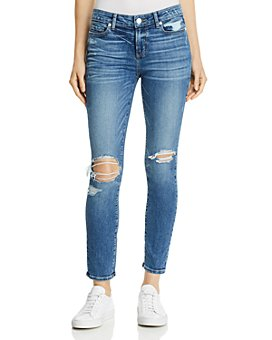 PAIGE - Verdugo Ankle Skinny Jeans in Embarcadero Destructed
