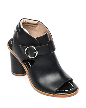 Bernardo - Hazel Peep-Toe Leather Booties