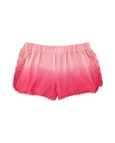 Design History Girls' Dip-Dyed Crochet-Trim Shorts - Little Kid - Bloomingdale's_0