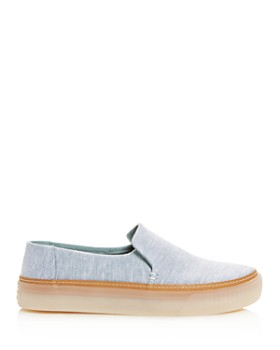 TOMS - Women's Sunset Chambray Platform Flats
