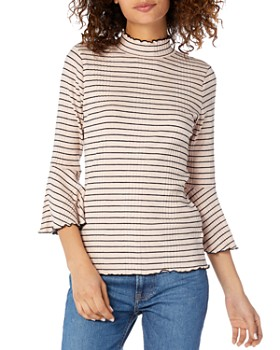 Michael Stars - Striped Mock-Neck Top