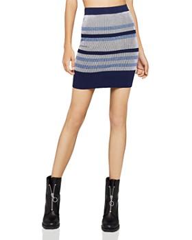 BCBGeneration - Rib-Knit Striped Skirt