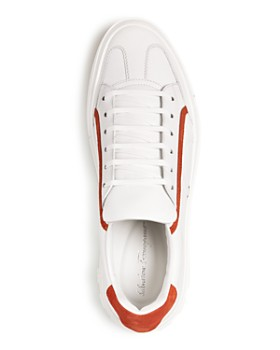 Salvatore Ferragamo - Men's Borg Leather Lace Up Sneakers