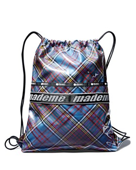 LeSportsac - x Made Me Plaid Fabric Drawstring Backpack