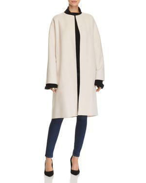 Wool & Cashmere Cocoon Coat, Buttercream
