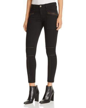 HAZINA STUDDED SKINNY JEANS IN FATIGUE