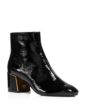 c0e5a636a2d9 Tory Burch - Women s Juliana Tumbled Patent Leather Booties ...
