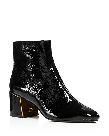 23fd76e46dff Tory Burch Women s Juliana Tumbled Patent Leather Booties ...