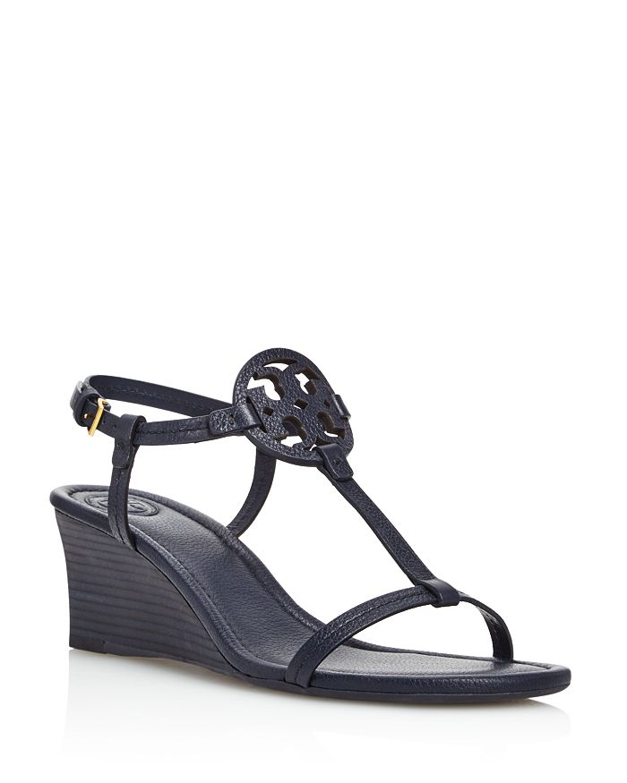 82defb4b6c1904 Tory Burch - Women s Miller Leather Wedge Sandals