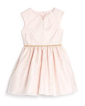 Pippa & Julie - Girls' Metallic-Striped Dress - Little Kid