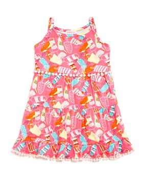 Design History - Girls' Ice-Pop-Print Tiered Dress - Little Kid