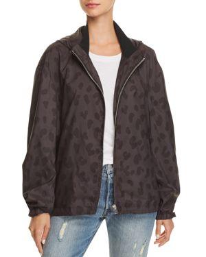 Iro. Jeans Labyrinth Leopard Print Jacket in Black