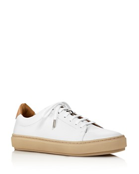 Pairs in Paris - Women's Martel Leather Low Top Lace Up Sneakers