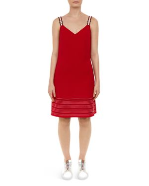COLOUR BY NUMBERS LANCHAL STITCH-DETAIL DRESS