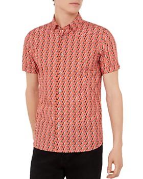 Ted Baker - Pineles Pineapple Print Short Sleeve Sport Shirt