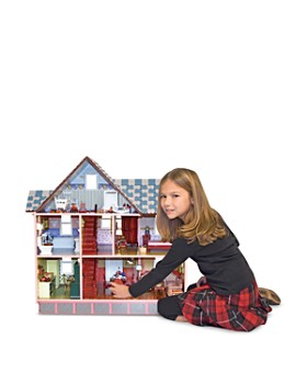 Melissa & Doug - Victorian Dollhouse Set with Furniture and Family - Ages 6+