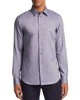 Armani - Layered Diamond-Print Regular Fit Sport Shirt