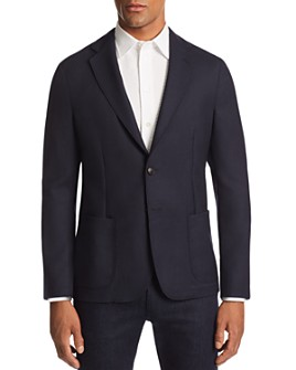 Armani - Check-Textured Regular Fit Soft Wool Jacket