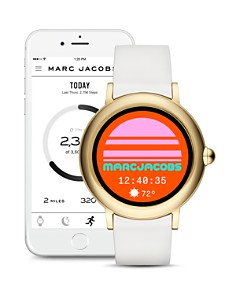 MARC JACOBS - Riley White Strap Touchscreen Watch, 44mm