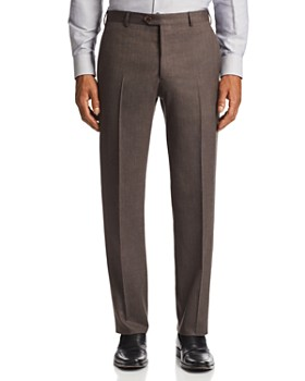 Armani - Flat-Front Tailored Fit Pants