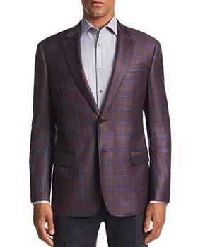 Emporio Armani - G-Line Plaid Tailored Fit Wool Jacket