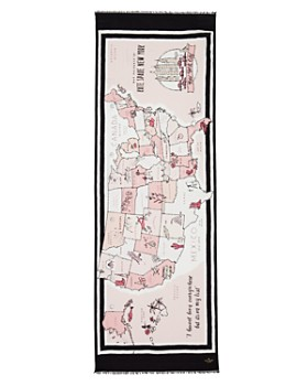 kate spade new york - USA Map Oblong Scarf