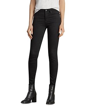 Allsaints Grace Skinny Jeans in Jet Black