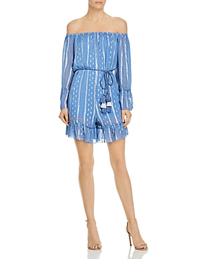 Saylor Off-the-Shoulder Ruffled Romper