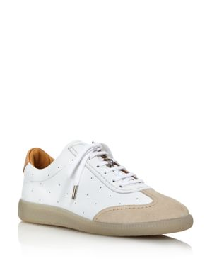 PAIRS IN PARIS Pairs In Paris Women'S Two-Tone Lace Up Leather Sneaker in White