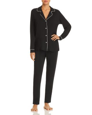 Gisele Tuxedo Slim Long Pj Set   100 Percents Exclusive by Eberjey
