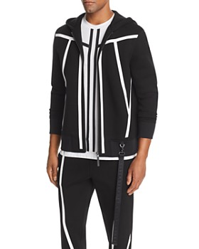 BLACKBARRETT by Neil Barrett - Tape-Stripe Scuba Hoodie