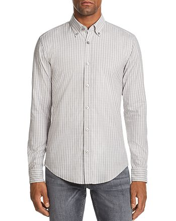 BOSS Hugo Boss - Rod Micro-Check-Print Slim Fit Button-Down Shirt