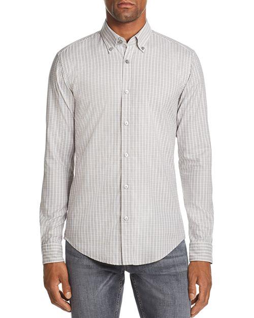 BOSS - Rod Micro-Check-Print Slim Fit Button-Down Shirt