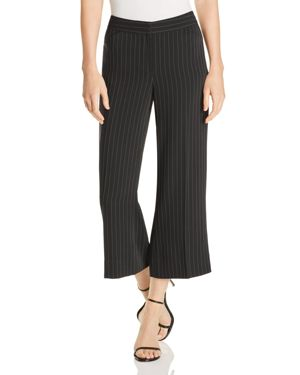 LE GALI SAVANAH PINSTRIPED CROP FLARE PANTS - 100% EXCLUSIVE