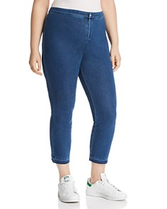 Lyssé Plus - Cigarette-Leg Jeans in Mid Wash
