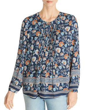 DANIEL RAINN FLORAL-PRINT PINTUCKED TOP